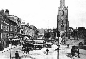 St Peter's Square, Nottingham in 1901