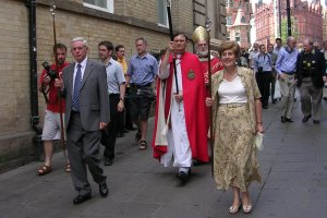 The Archbishop in procession