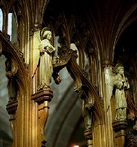 Angels on the rood screen