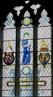 The Bluecoat window of St Peter's Church, Nottingham