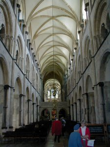 The nave of Chichester Cathedral