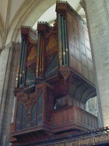 The organ of Chichester Cathedral