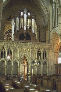 The quire of Southwell Minster