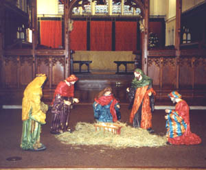 A Crib at St Peter's Church, Nottingham