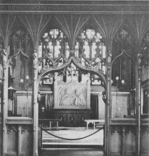 The chancel of St Peter's, Nottingham prior to 1950